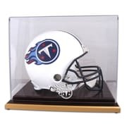 Mounted Memories NFL Wood Base Helmet Logo Display Case; Tennessee Titans