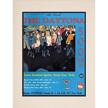 Mounted Memories NASCAR Daytona 500 Program Vintage Advertisement; 14th Annual - 1972