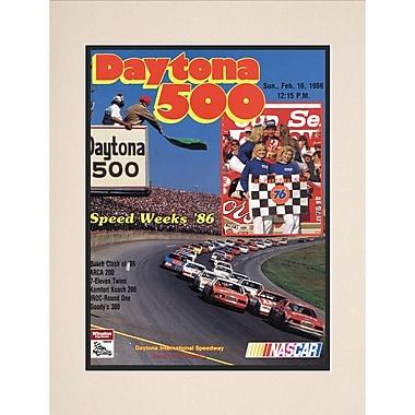 Mounted Memories NASCAR Daytona 500 Program Vintage Advertisement; 28th Annual - 1986