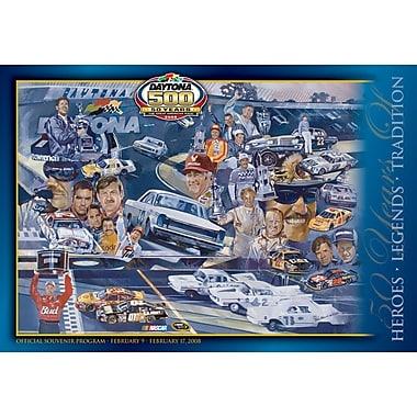 Mounted Memories NASCAR Daytona 500 Program Vintage Advertisement on Canvas; 50th Annual - 2008