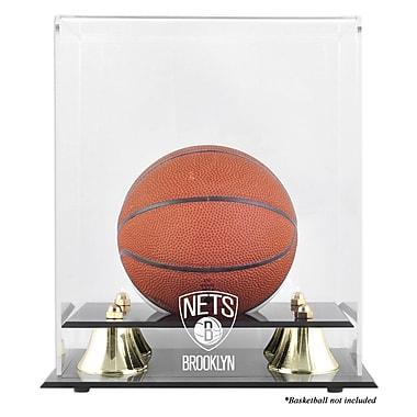 Mounted Memories NBA Golden Classic Logo Mini Basketball Display Case; Brooklyn Nets