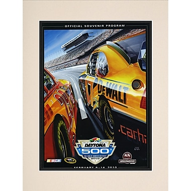 Mounted Memories NASCAR Daytona 500 Program Vintage Advertisement; 52nd Annual - 2010