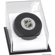 Mounted Memories Hockey Puck Logo Display Case; New Jersey Devils