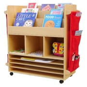 A+ Child Supply Big 3 Compartment Book Display w/ Bins