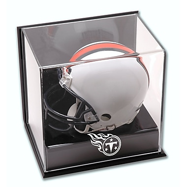 Mounted Memories NFL Wall Mounted Logo Mini Helmet Display Case; Tennessee Titans