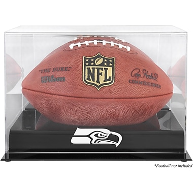 Mounted Memories NFL Football Logo Display Case; Seattle Seahawks