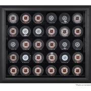 Mounted Memories 30 Hockey Puck Display Case; Brown