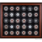 Mounted Memories 30 Hockey Puck Display Case; Mahogany