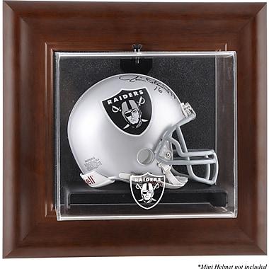 Mounted Memories NFL Wall Mounted Logo Mini Helmet Case; Oakland Raiders