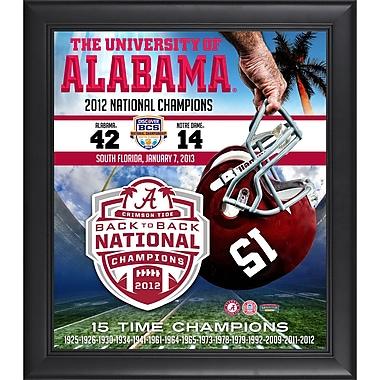 Mounted Memories Alabama Crimson Tide 2012 BCS National Champions Framed Memorabilia