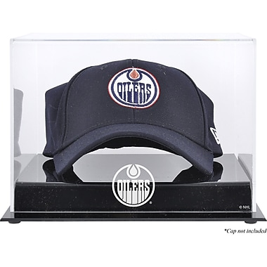 Mounted Memories Acrylic Cap Logo Display Case; Edmonton Oilers