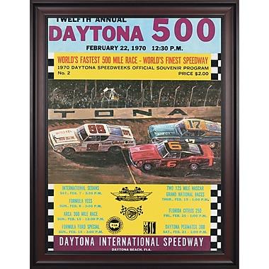 Mounted Memories NASCAR Daytona 500 Program Framed Vintage Advertisement; 12th Annual - 1970