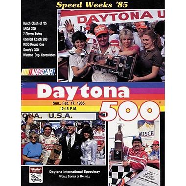Mounted Memories NASCAR Daytona 500 Program Vintage Advertisement on Canvas; 27th Annual - 1985