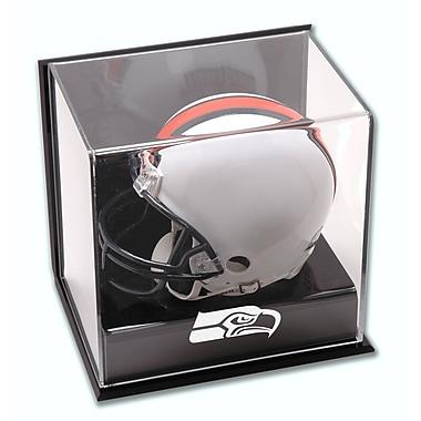 Mounted Memories NFL Wall Mounted Logo Mini Helmet Display Case; Seattle Seahawks