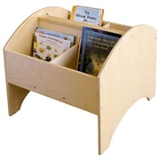 A+ Child Supply Toddler Arch 4 Compartment Book Display w/ Casters