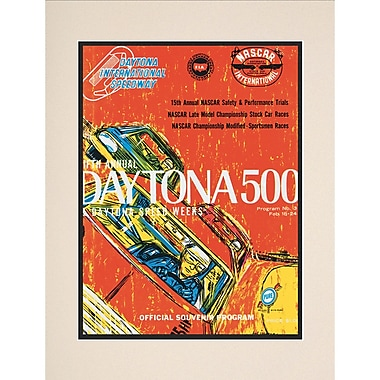 Mounted Memories NASCAR Daytona 500 Program Vintage Advertisement; 5th Annual - 1963