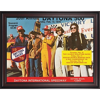 Mounted Memories NASCAR Daytona 500 Program Framed Vintage Advertisement; 20th Annual - 1978