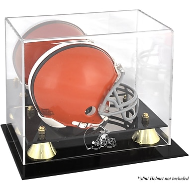 Mounted Memories NFL Classic Logo Mini Helmet Display Case; Cleveland Browns