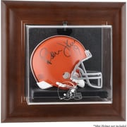 Mounted Memories NFL Wall Mounted Logo Mini Helmet Case; Cleveland Browns