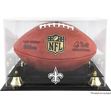 Mounted Memories NFL Classic Football Logo Display Case; New Orleans Saints