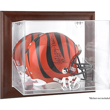 Mounted Memories NFL Wall Mounted Logo Helmet Case; Cincinnati Bengals