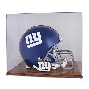 Mounted Memories NFL Helmet Logo Display Case; New York Giants