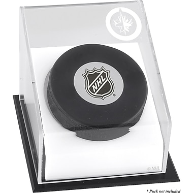 Mounted Memories Hockey Puck Logo Display Case; Winnipeg Jets