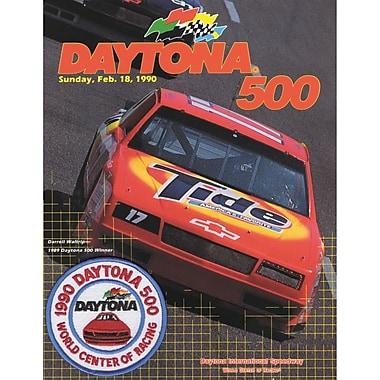 Mounted Memories NASCAR Daytona 500 Program Vintage Advertisement on Canvas; 32nd Annual - 1990