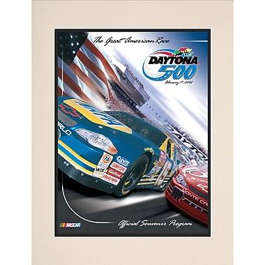 Mounted Memories NASCAR Daytona 500 Program Vintage Advertisement; 44th Annual - 2002