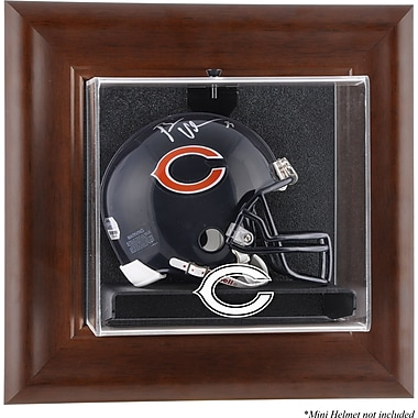 Mounted Memories NFL Wall Mounted Logo Mini Helmet Case; Chicago Bears