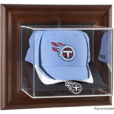 Mounted Memories NFL Wall Mounted Logo Cap Case; Tennessee Titans
