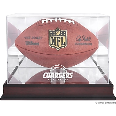 Mounted Memories NFL Football Logo Display Case; San Diego Chargers