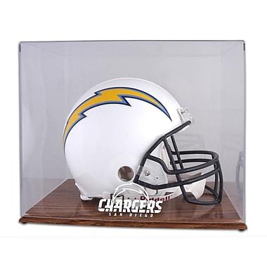 Mounted Memories NFL Helmet Logo Display Case; San Diego Chargers