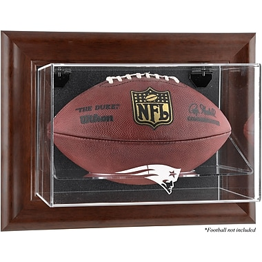 Mounted Memories NFL Wall Mounted Logo Football Case; New England Patriots