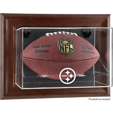 Mounted Memories NFL Wall Mounted Logo Football Case; Pittsburgh Steelers