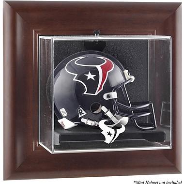 Mounted Memories NFL Wall Mounted Logo Mini Helmet Case; Houston Texans
