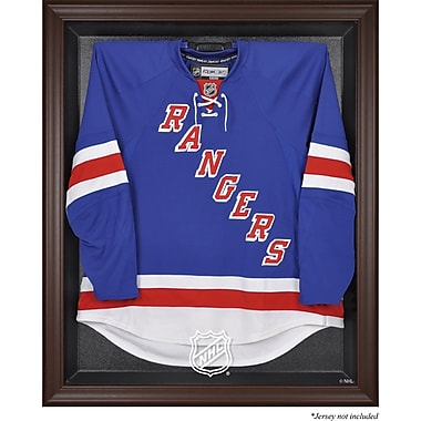 Mounted Memories NHL Display Case; Brown