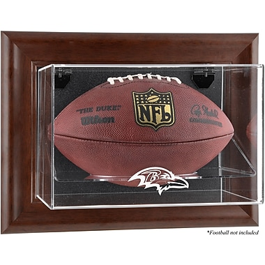 Mounted Memories NFL Wall Mounted Logo Football Case; Baltimore Ravens