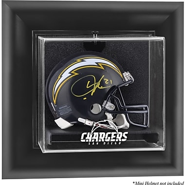 Mounted Memories NFL Wall Mounted Mini Helmet Logo Display Case; San Diego Chargers