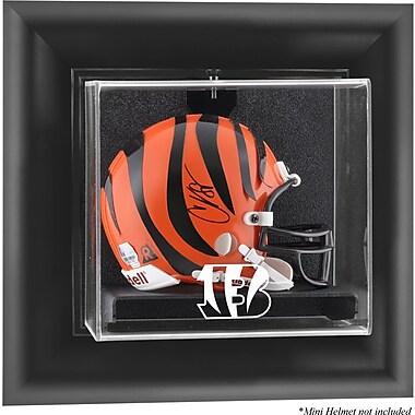 Mounted Memories NFL Wall Mounted Mini Helmet Logo Display Case; Cincinnati Bengals