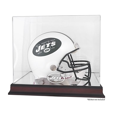 Mounted Memories NFL Helmet Logo Display Case; New York Jets
