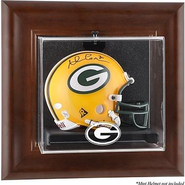 Mounted Memories NFL Wall Mounted Logo Mini Helmet Case; Green Bay Packers