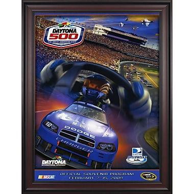 Mounted Memories NASCAR Daytona 500 Program Framed Vintage Advertisement; 51st Annual - 2009