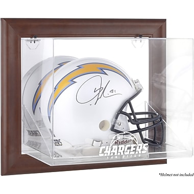 Mounted Memories NFL Wall Mounted Logo Helmet Case; San Diego Chargers