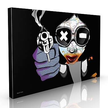Maxwell Dickson ''Girl Blast'' Graphic Art on Canvas; 40'' H x 60'' W