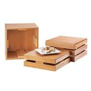 Cal-Mil Square Crate Riser; Bamboo