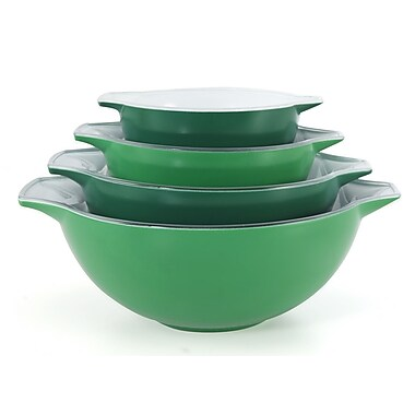 Creo 4 Piece Nesting Bowl Set; Green