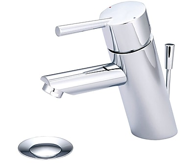 Olympia Faucets Deck Mounted Standard Bathroom Faucet w/ Drain Assembly; Chrome