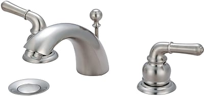 Olympia Faucets Standard Bathroom Faucet w/ Drain Assembly; PVD Brushed Nickel