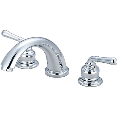 Olympia Faucets Double Handle Deck Mounted Tub Trim Set; Chrome